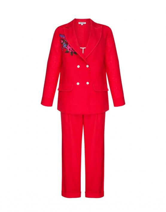 Льняной костюм Роза круиз FOBERI_SS20041, фото 1 - в интеренет магазине KAPSULA