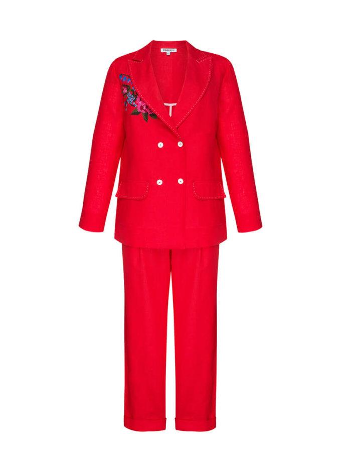 Льняной костюм Роза круиз FOBERI_SS20041, фото 1 - в интернет магазине KAPSULA
