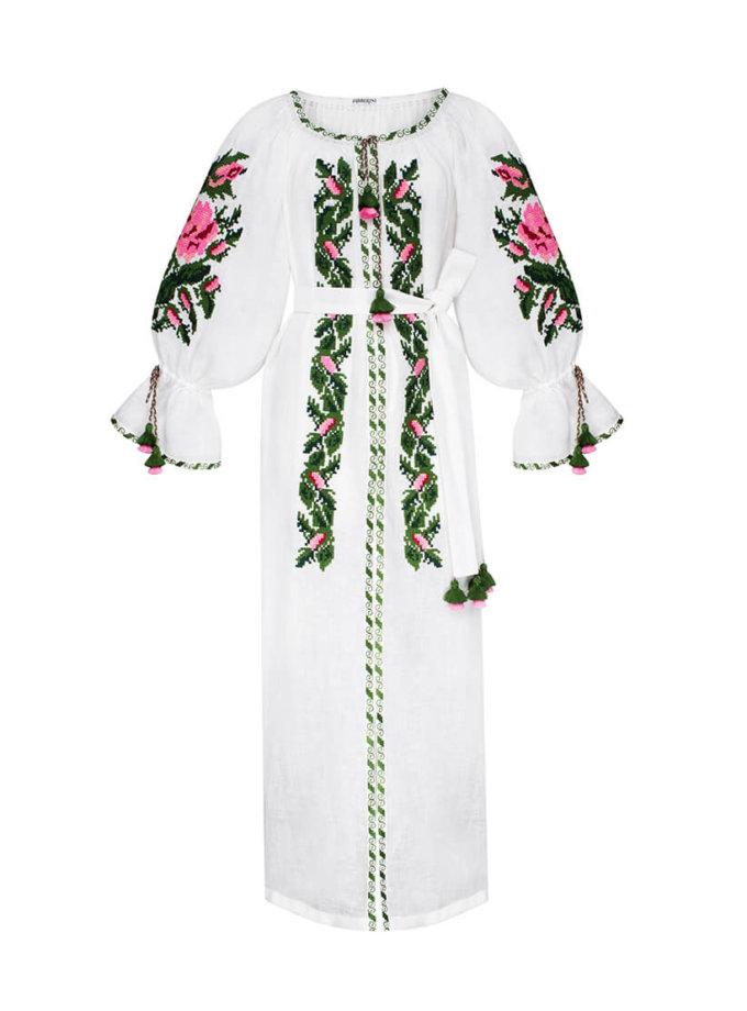 Туника Клэр из льна с вышивкой FOBERI_SS20003, фото 1 - в интеренет магазине KAPSULA