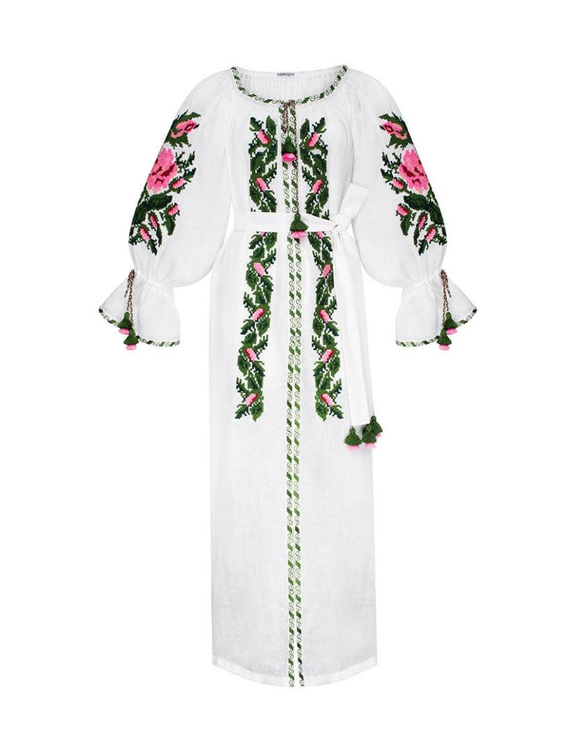 Туника Клэр из льна с вышивкой FOBERI_SS20003, фото 1 - в интернет магазине KAPSULA