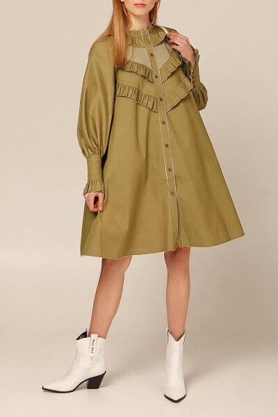 Платье из хлопка с рюшами AY_2936, фото 5 - в интеренет магазине KAPSULA