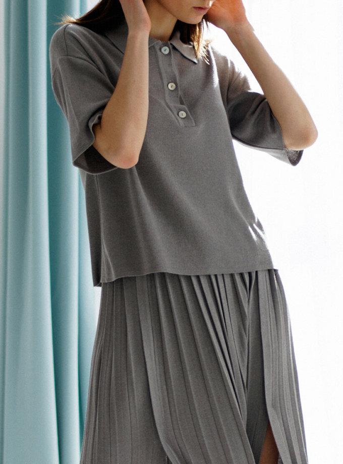 Поло свободного кроя из трикотажа NBL_17-POLKR, фото 1 - в интернет магазине KAPSULA
