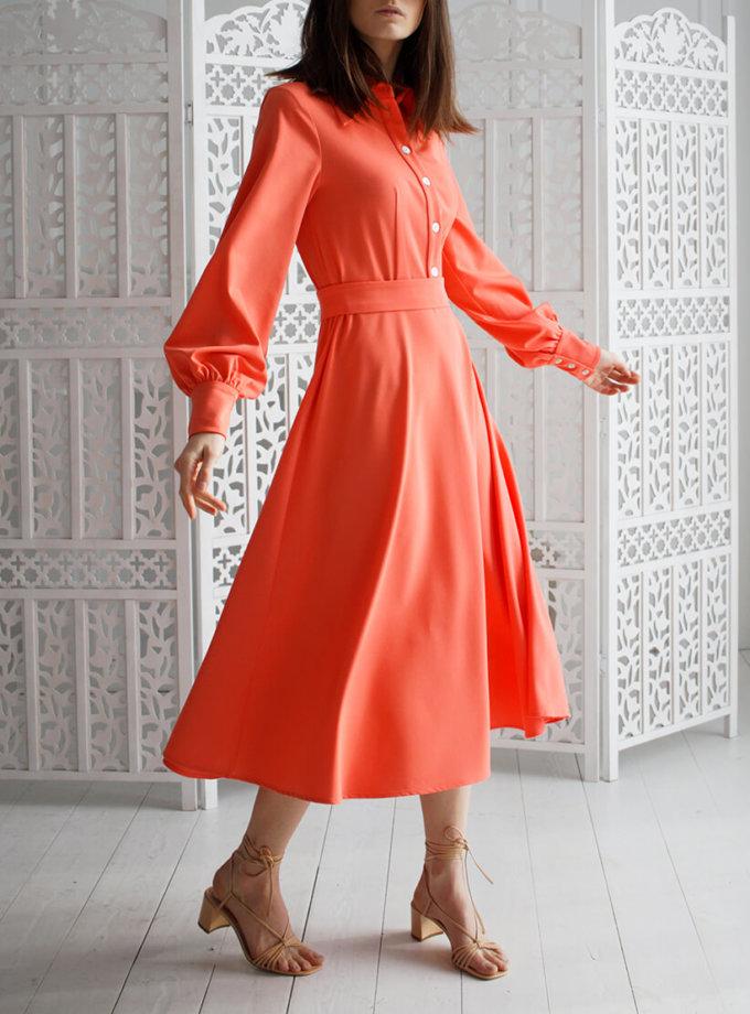 Платье А силуэта с широким рукавом NBL_09-PVSHRК, фото 1 - в интеренет магазине KAPSULA