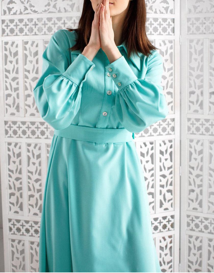 Платье А силуэта с широким рукавом NBL_09-PVSHRМ, фото 1 - в интернет магазине KAPSULA