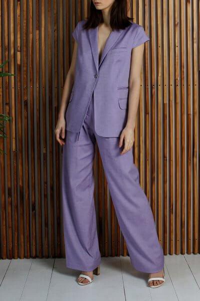 Брючный костюм из хлопка и льна NBL_12-KBGS, фото 1 - в интеренет магазине KAPSULA