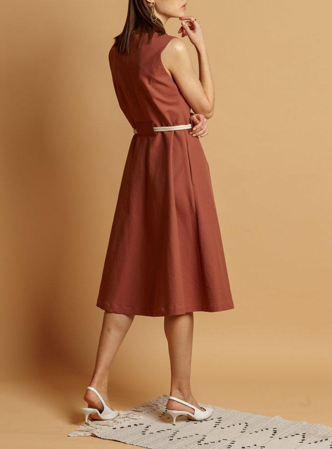 Хлопковое платье с поясом INS_SS20_11, фото 1 - в интернет магазине KAPSULA
