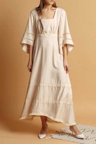 Хлопковое платье  с кружевом INS_SS20_12_01, фото 6 - в интеренет магазине KAPSULA