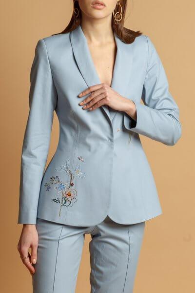 Жакет из хлопка с вышивкой INS_SS20_2_02, фото 1 - в интеренет магазине KAPSULA