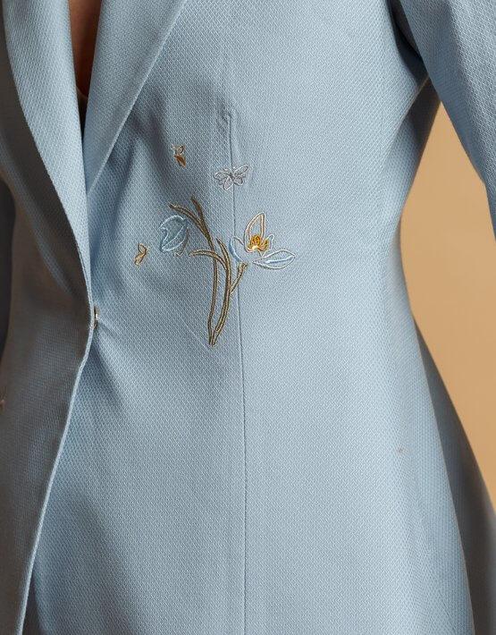 Жакет из хлопка с вышивкой INS_SS20_2_02, фото 5 - в интеренет магазине KAPSULA
