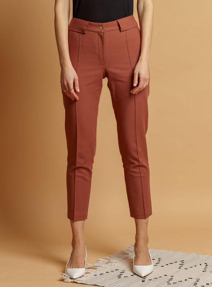 Хлопковые брюки со стрелками INS_SS20_4_01, фото 1 - в интернет магазине KAPSULA