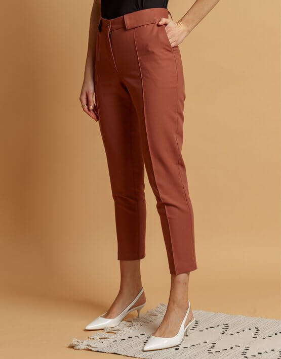 Хлопковые брюки со стрелками INS_SS20_4_01, фото 5 - в интеренет магазине KAPSULA