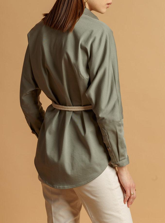 Рубашка из хлопка с поясом INS_SS20_7_01, фото 1 - в интеренет магазине KAPSULA