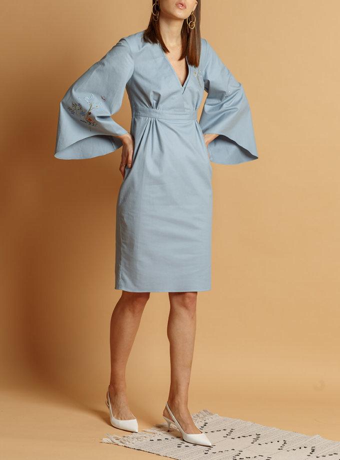 Хлопковое платье с вышивкой INS_SS20_8, фото 1 - в интеренет магазине KAPSULA