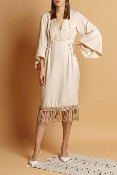 Платье из хлопка с кисточками INS_SS20_8_01, фото 1 - в интеренет магазине KAPSULA