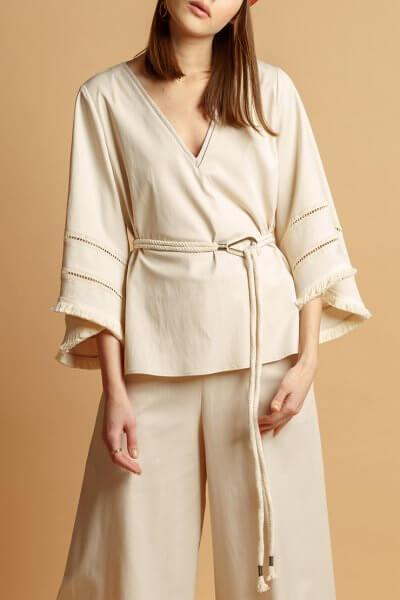 Блуза из хлопка с поясом INS_SS20_9, фото 1 - в интеренет магазине KAPSULA