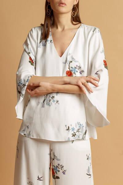 Хлопковая блуза в принт INS_SS20_9_01, фото 1 - в интеренет магазине KAPSULA