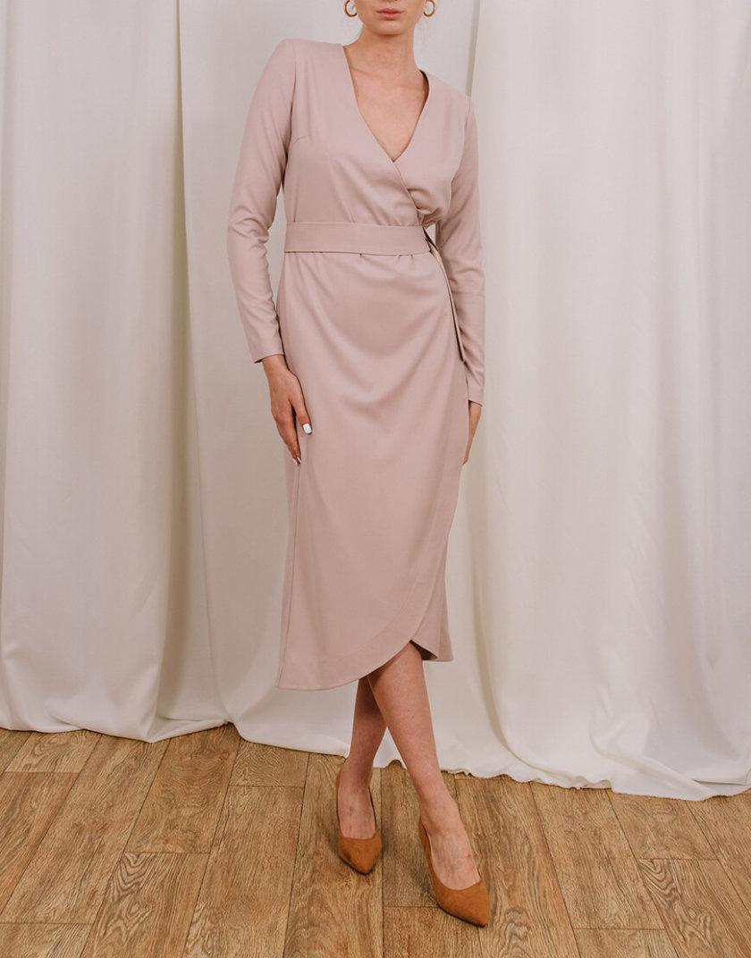 Платье миди на запах MNTK_MTDRS205, фото 1 - в интернет магазине KAPSULA