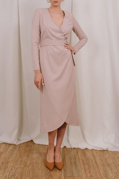 Платье миди на запах MNTK_MTDRS205, фото 5 - в интеренет магазине KAPSULA