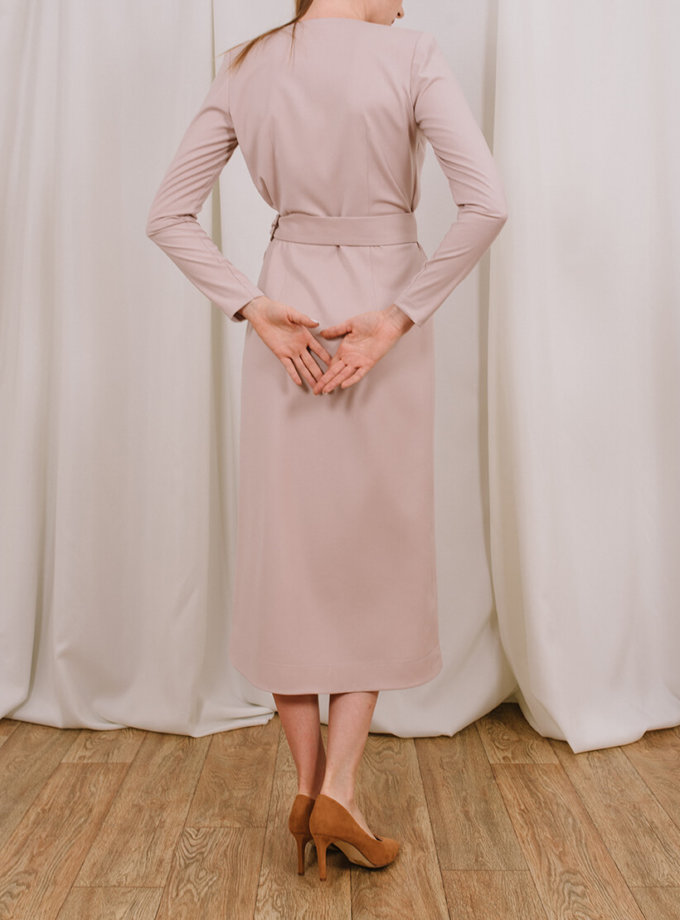 Платье миди на запах MNTK_MTDRS205, фото 1 - в интеренет магазине KAPSULA