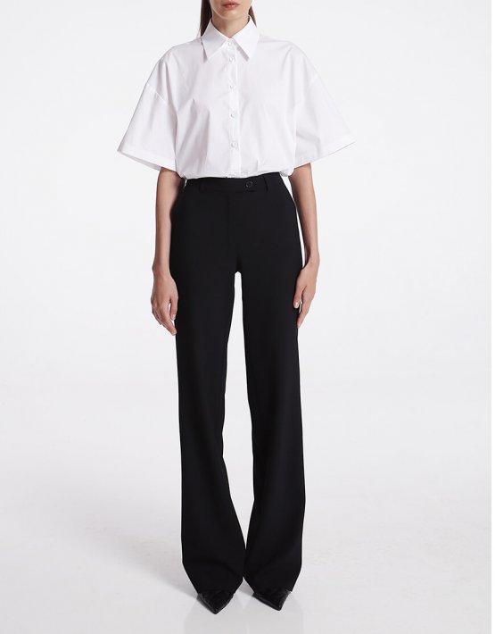 Прямые брюки из шерсти SHKO_16021019, фото 3 - в интеренет магазине KAPSULA