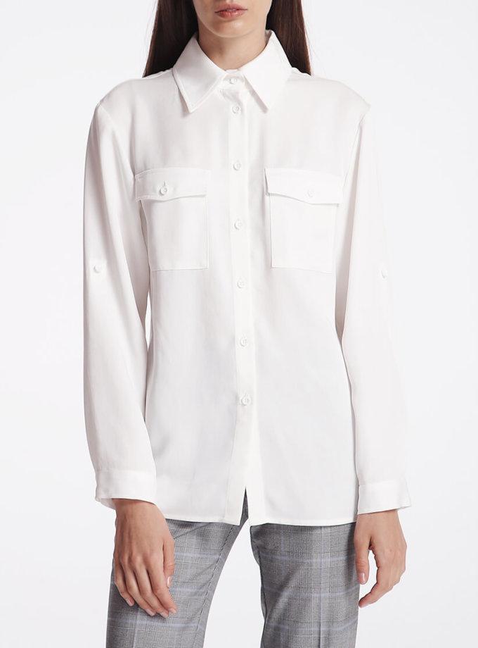 Рубашка с накладными карманами SHKO_18032003, фото 1 - в интернет магазине KAPSULA