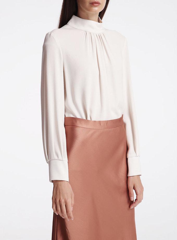 Блуза с воротником стойкой SHKO_18053001, фото 1 - в интернет магазине KAPSULA