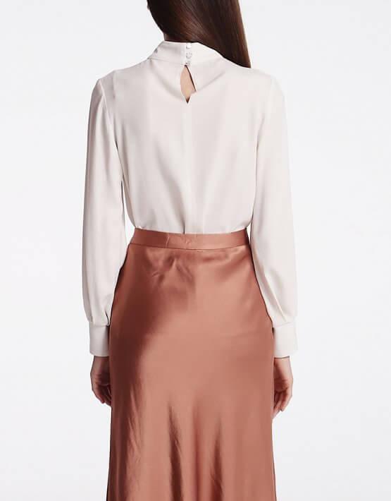Блуза с воротником стойкой SHKO_18053001, фото 4 - в интеренет магазине KAPSULA