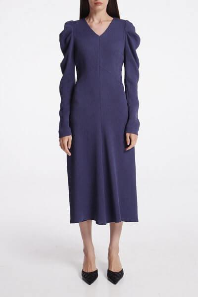 Платье миди с объёмными рукавами SHKO_19005005, фото 1 - в интеренет магазине KAPSULA