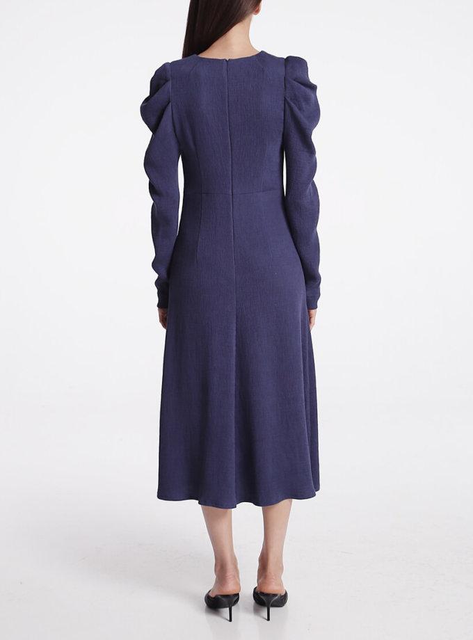 Платье миди с объёмными рукавами SHKO_19005005, фото 1 - в интернет магазине KAPSULA