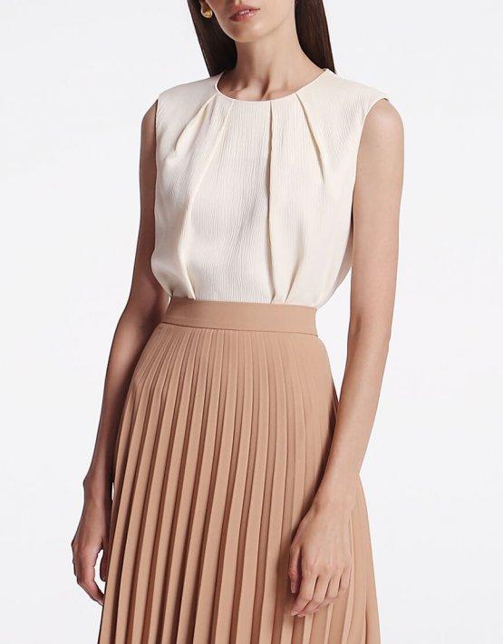 Легкая блуза с защипами SHKO_19008003, фото 4 - в интеренет магазине KAPSULA