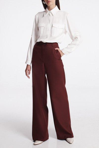 Широкие брюки из шерсти SHKO_19039002, фото 1 - в интеренет магазине KAPSULA