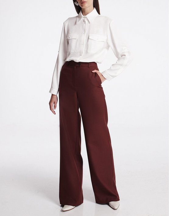Широкие брюки из шерсти SHKO_19039002, фото 4 - в интеренет магазине KAPSULA