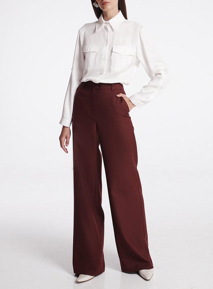 Широкие брюки из шерсти SHKO_19039002, фото 1 - в интернет магазине KAPSULA