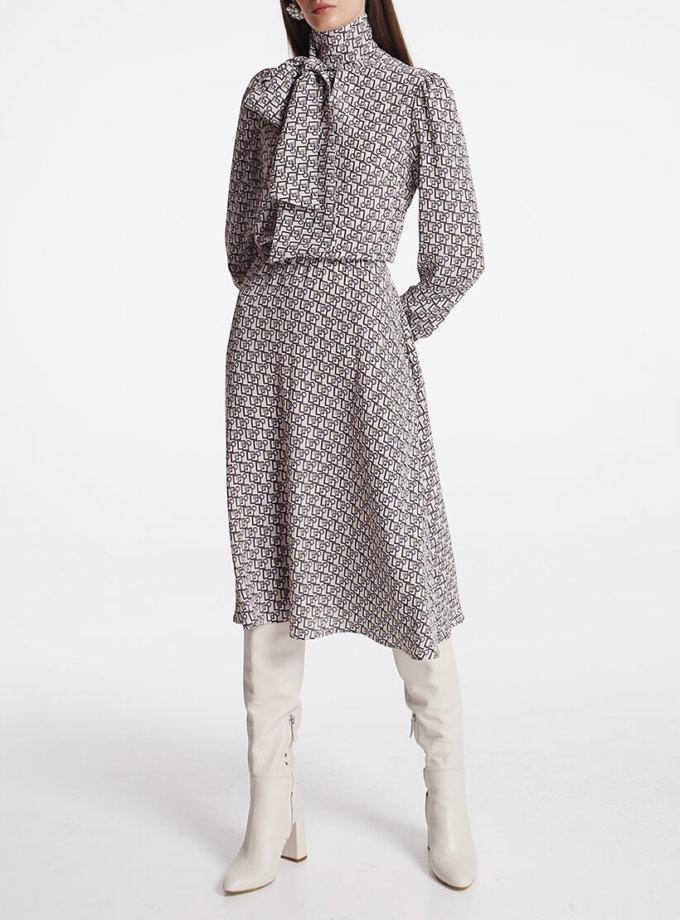 Платье миди с бантом SHKO_19050001, фото 1 - в интеренет магазине KAPSULA