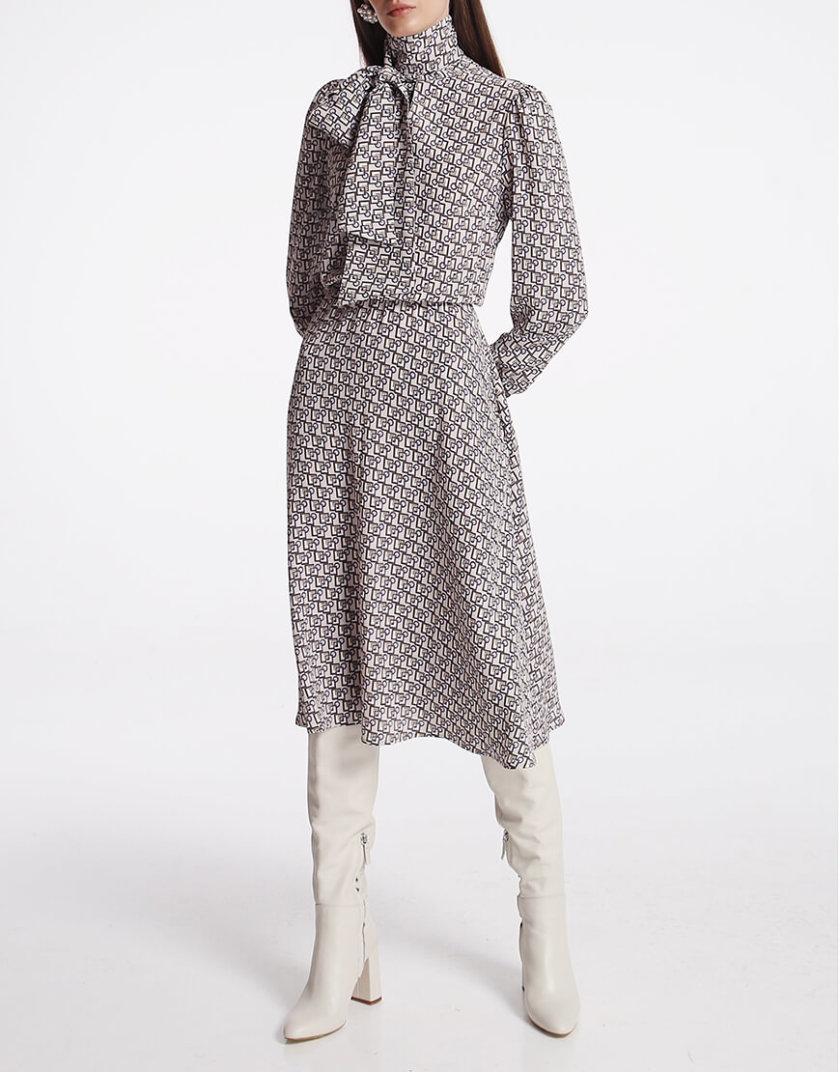 Платье миди с бантом SHKO_19050001, фото 1 - в интернет магазине KAPSULA