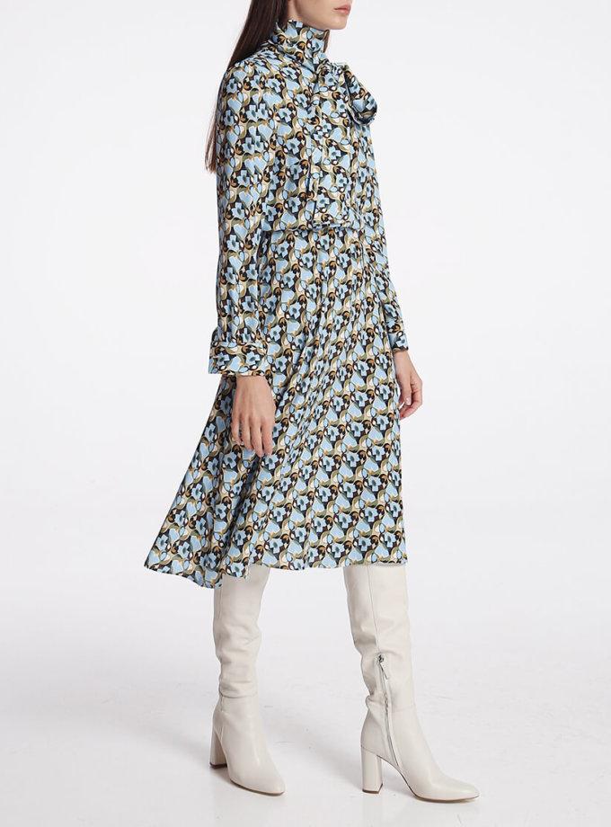 Платье миди с бантом SHKO_19050002, фото 1 - в интеренет магазине KAPSULA