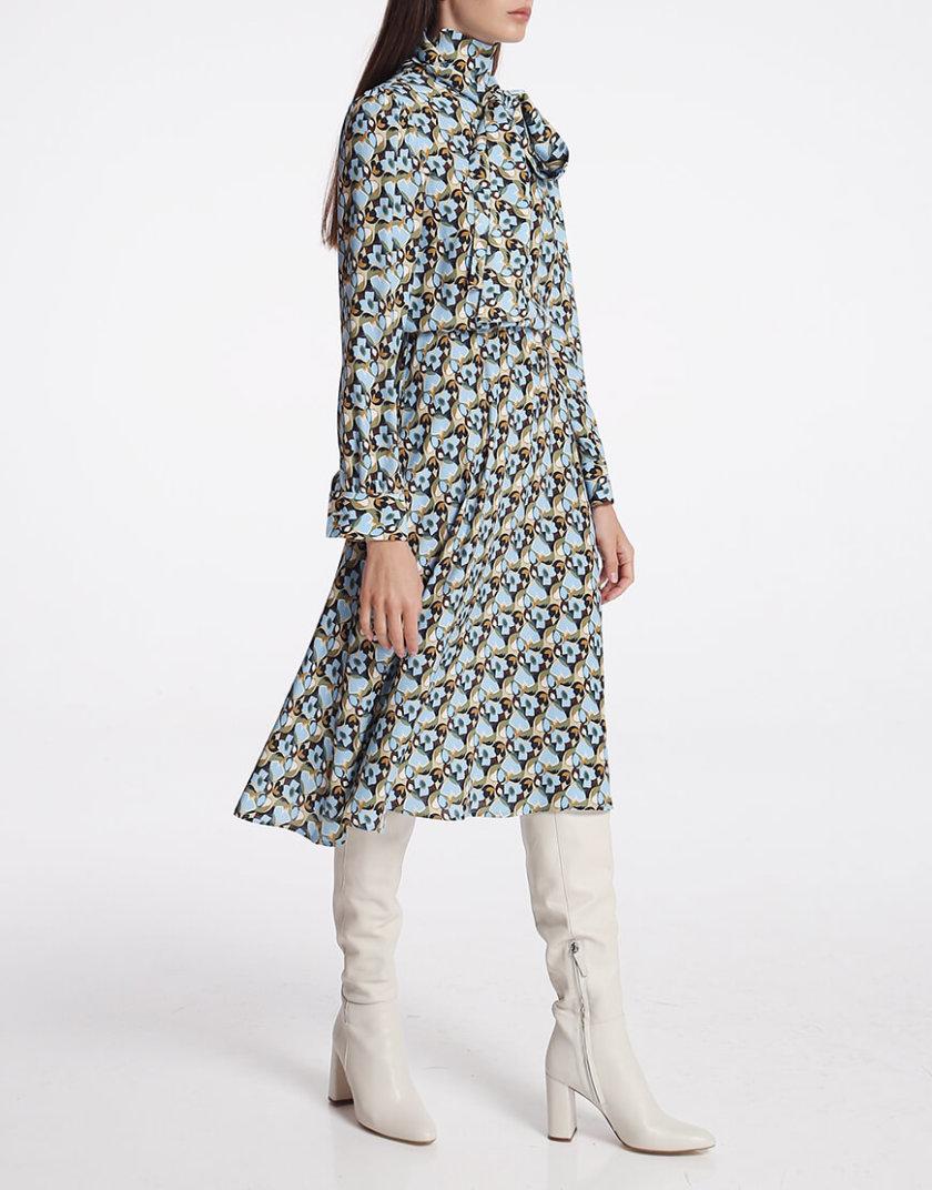 Платье миди с бантом SHKO_19050002, фото 1 - в интернет магазине KAPSULA