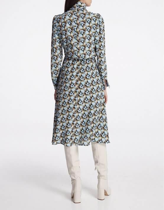 Платье миди с бантом SHKO_19050002, фото 4 - в интеренет магазине KAPSULA
