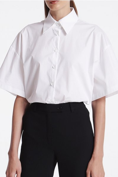 Рубашка свободного кроя из хлопка SHKO_19053001, фото 4 - в интеренет магазине KAPSULA