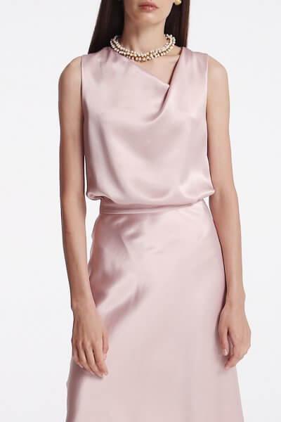 Блуза с асимметричным вырезом SHKO_19055001, фото 1 - в интеренет магазине KAPSULA