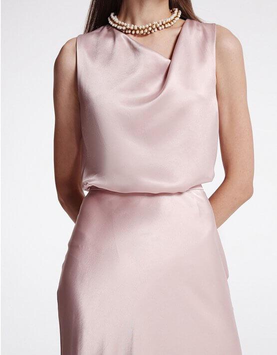 Блуза с асимметричным вырезом SHKO_19055001, фото 5 - в интеренет магазине KAPSULA