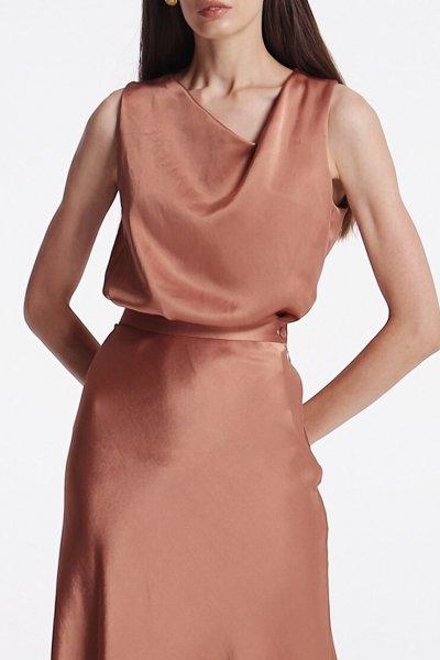 Блуза с асимметричным вырезом SHKO_19055002, фото 1 - в интеренет магазине KAPSULA