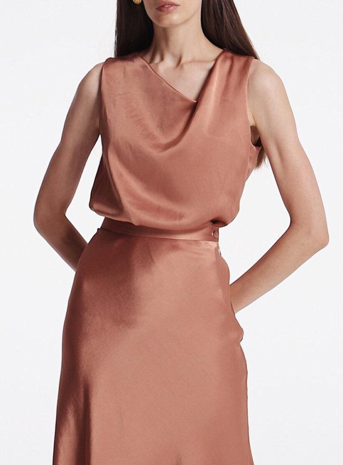 Блуза с асимметричным вырезом SHKO_19055002, фото 1 - в интернет магазине KAPSULA