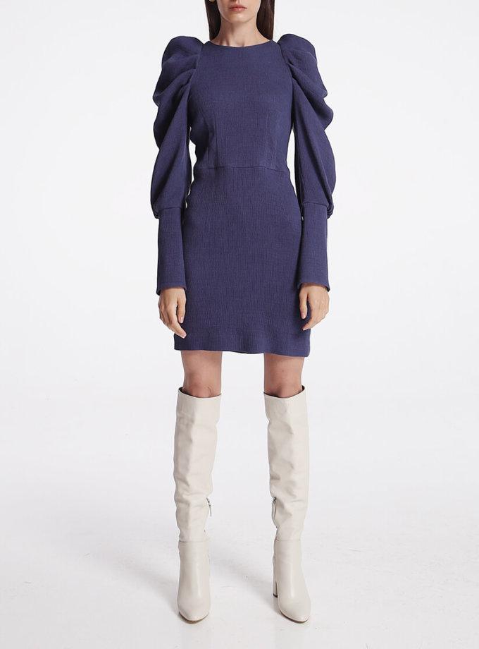 Платье мини с объёмными рукавами SHKO_19057001, фото 1 - в интеренет магазине KAPSULA