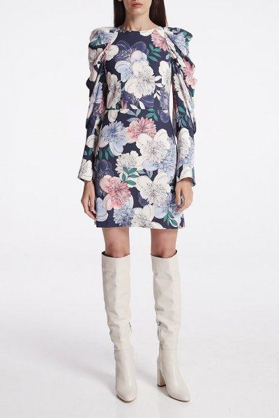 Платье мини с объёмными рукавами SHKO_19057002, фото 1 - в интеренет магазине KAPSULA