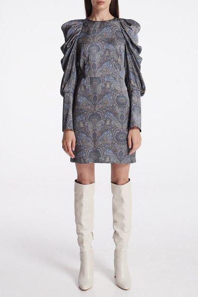 Платье мини с объёмными рукавами SHKO_19057003, фото 1 - в интеренет магазине KAPSULA