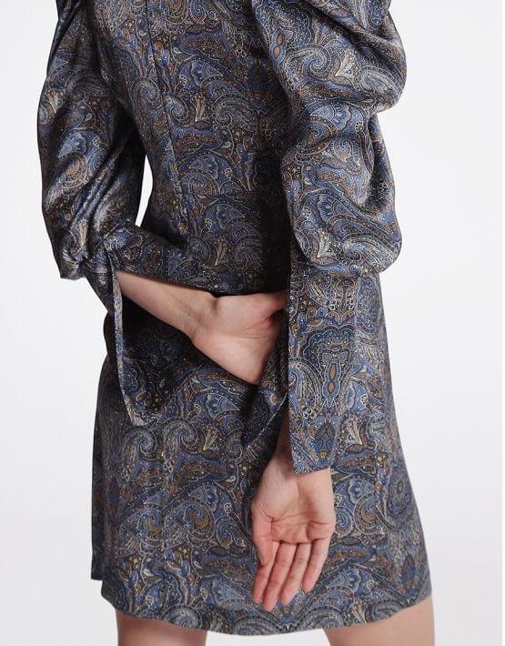 Платье мини с объёмными рукавами SHKO_19057003, фото 4 - в интеренет магазине KAPSULA