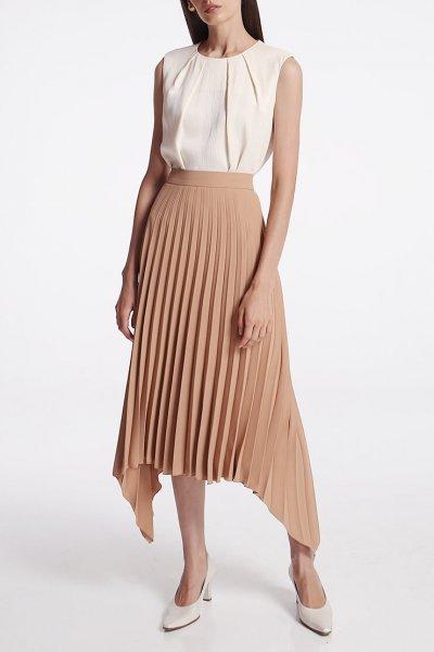 Асимметричная юбка плиссе SHKO_19062001, фото 3 - в интеренет магазине KAPSULA
