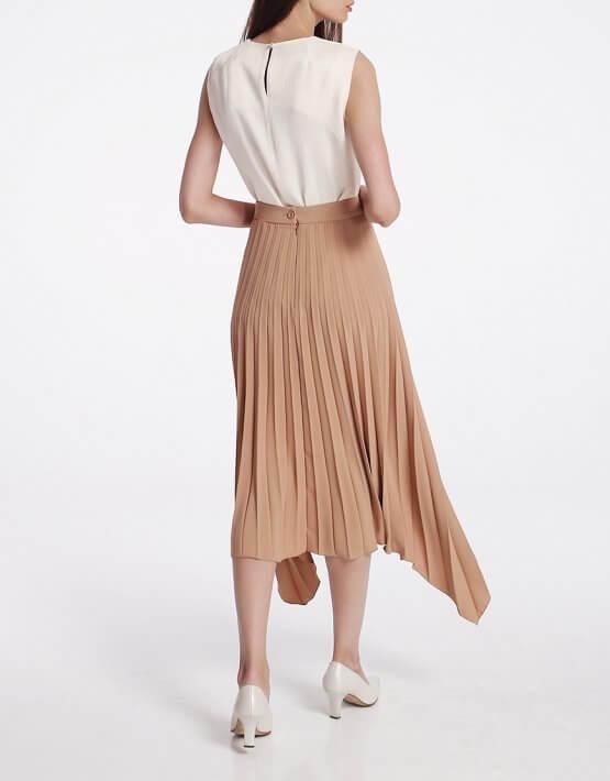 Асимметричная юбка плиссе SHKO_19062001, фото 5 - в интеренет магазине KAPSULA