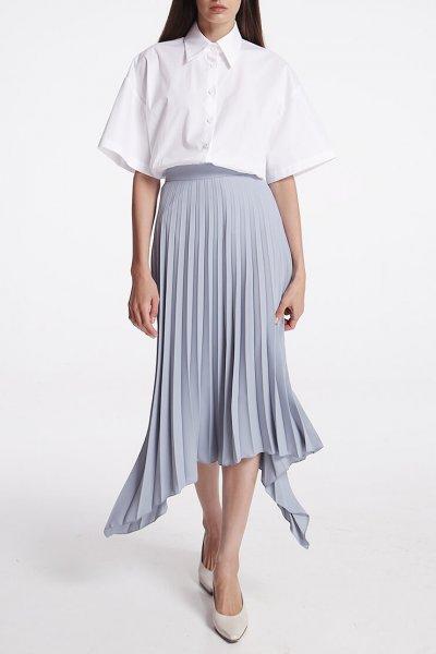 Асимметричная юбка плиссе SHKO_19062002, фото 2 - в интеренет магазине KAPSULA